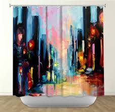 Artistic Shower Curtains Funky Shower Curtains Curtain Artistic Designer From Dianoche