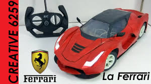 toy ferrari how to make rc ferrari car ferrari laferrari diy cardboard