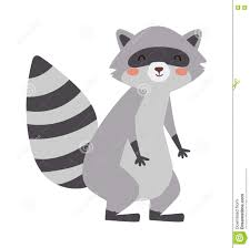 funny raccoon vector illustration stock vector image 73183626