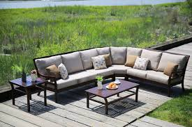 Outdoor Patio Furniture Sectional Cast Aluminum Outdoor Patio Sectional By Ratana