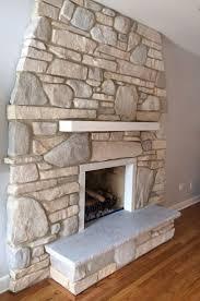 whitewash stone fireplace binhminh decoration