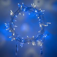 Fairy Lights Outdoor by 80 Led Blue U0026 White Connectable Clear Cable Fairy Lights