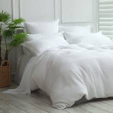 cotton waffle duvet cover set by mm linen commercial supplies