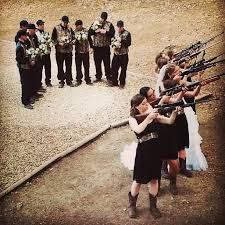 country camo wedding with guns love everything about this
