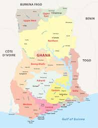 Ghana Africa Map Ghana Map Blank Political Ghana Map With Cities