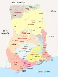 Ghana Map Africa by Ghana Map Blank Political Ghana Map With Cities