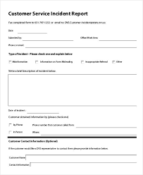 customer incident report form template 36 free incident report