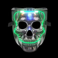 led skull mask light up mask led costume