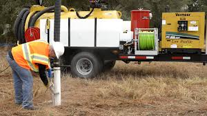 hydro excavation with vac tron equipment youtube