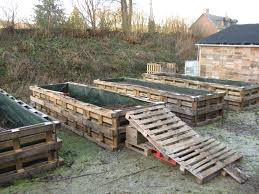Make A Vegetable Garden by Old Pallets Used To Make A Raised Garden Cool Now I Don U0027t Have To