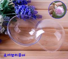 1pc 4 5 6cm clear plastic arcylic fillable ornament