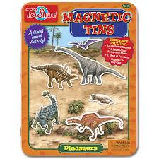 amazon com t s shure dinosaurs magnetic tin playset toys u0026 games