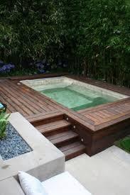 Hot Tub Patio Ideas  Ideas Backyard Deck Design Portable - Backyard spa designs