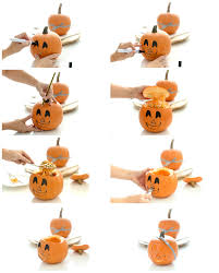 calabazas de halloween calabazas decoradas para halloween paso a paso velocidad cuchara