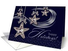 business happy holidays card with christmas ornaments card