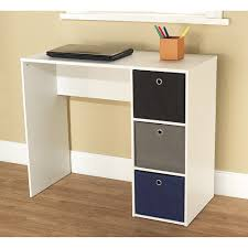 student writing desk with 3 fabric bins multiple colors walmart com
