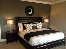 Wall Mirrors Target by Grey Accent Wall With Black And White Bedding Lamps Shades