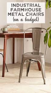 Wood And Metal Dining Chairs Industrial Farmhouse Style Chairs On A Budget