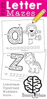 free lowercase letter mazes preschool kids little wonders
