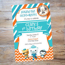 cute octonauts invitation perfect for a birthday party preschool