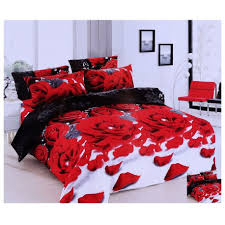 Roses Duvet Cover 3d Black Roses Duvet Cover U0026 Two Pillowcases U0026 Bed Sheet Set