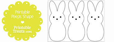 printable peeps shape template u2014 printable treats
