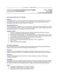 accounting assistant description for resume 28 images