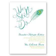 peacock invitations peacock calligraphy vow renewal invitation invitations by