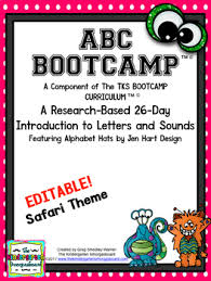 monster abc bootcamp u0026 hats editable 26 day introduction to