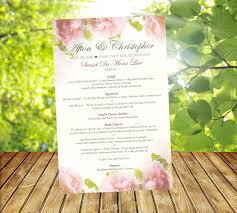 20 wedding itinerary ceremony program schedules reception menu