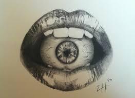 iris illuminati illuminati all seeing eye pencil and in color