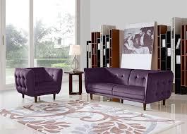 Diamond Furniture Living Room Sets Diamond Sofa Venice Button Tuft Fabric Chair With Tufted Seats