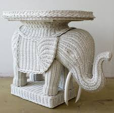 furniture cute image of round white wicker elephant table as
