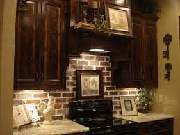 Kitchen Backsplash Dark Cabinets Brick Backsplash Kitchens Pinterest Bricks Kitchens And House
