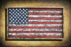 How To Display American Flag On Wall Wonderful Us Flag Wall Decor American Flag Theme Wood Design Ideas
