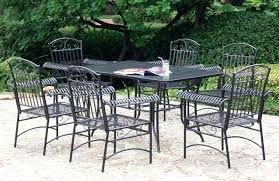 Black Wrought Iron Patio Furniture Sets Patio Ideas Black Wrought Iron Patio Furniture With Rectangle