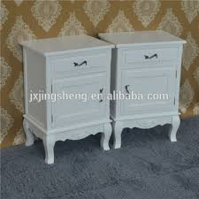 shabby chic pair of bedside tables chests drawers art deco white