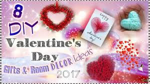 valentine day 2017 gifts 8 diy valentine s day gifts room decor ideas 2017 youtube