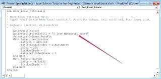 tutorial visual basic excel bahasa indonesia excel 2010 macro tutorial exle of visual basic for applications