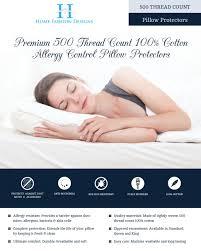 amazon com home fashion designs 500 thread count hypoallergenic