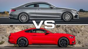 road test 2015 mustang 2017 mercedes c class coupe vs 2015 ford mustang ecoboost