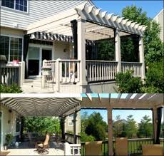 pergola with shade fx canopy and mosquito curtains pergolas