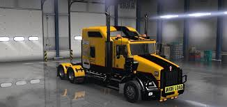 new truck kenworth cat skin for the kenworth t800 truck american truck simulator