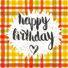 imagenes de cumpleaños sin letras inscripción manuscrita feliz cumpleaños en el fondo de tartán patrón
