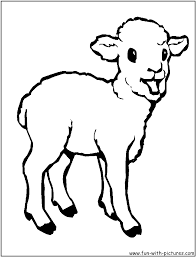 lamb near baby jesus coloring page with baby coloring pages