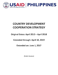 country development cooperation strategy philippines u s