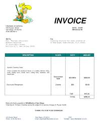 microsoft word invoice template 2003 child youth care worker