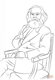karl marx coloring page free printable coloring pages