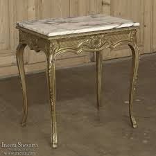 Marble Top Sofa Table by 19th Century French Baroque Giltwood Marble Top End Table Inessa