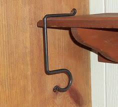fireplace mantle hooks blacksmith handcrafted